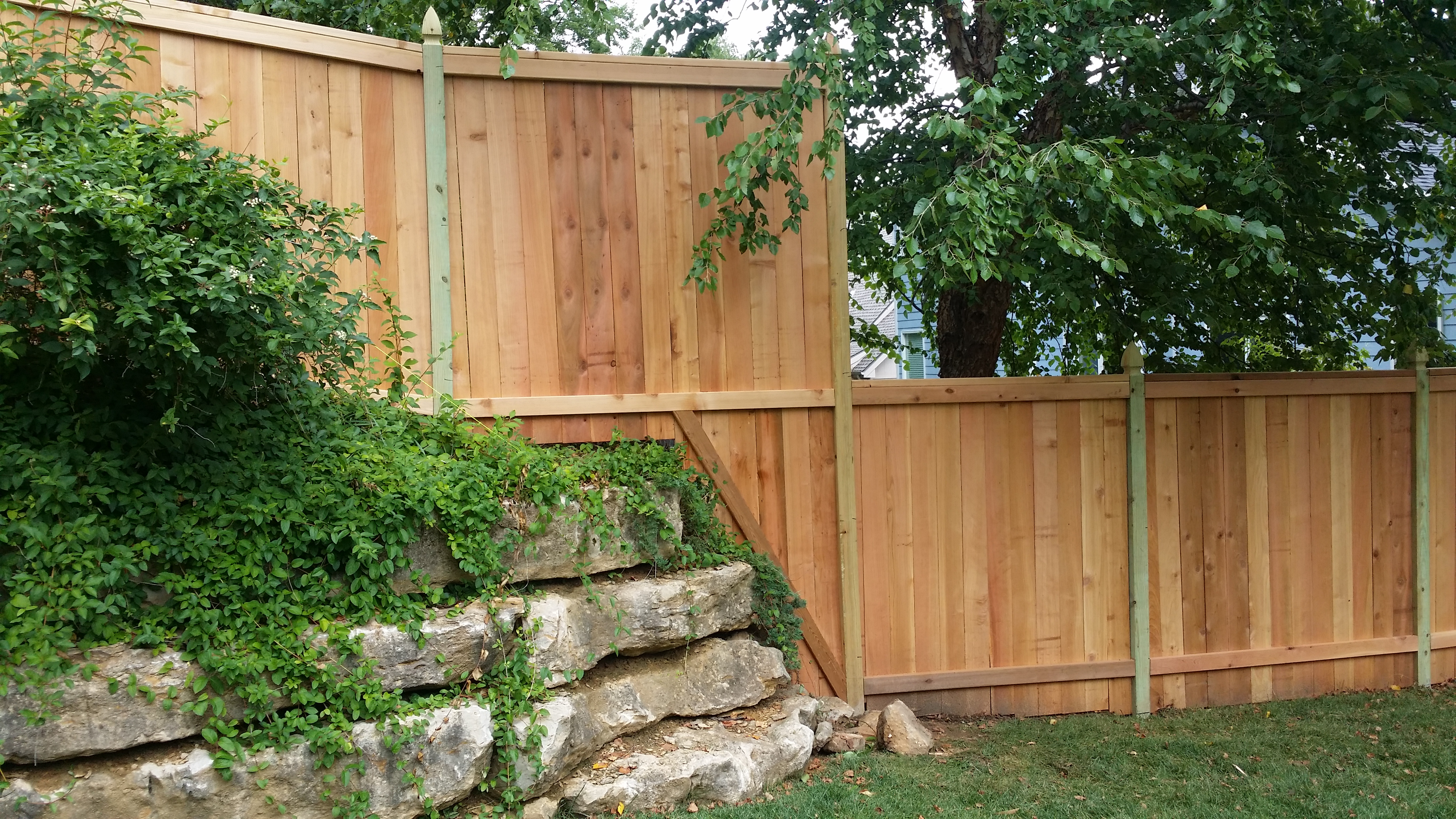 Woods Lumber Independence Ks ~ Wood fence perfect company kansas city
